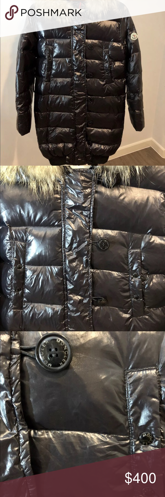 Authentic moncler down fur jacket Authentic moncler down