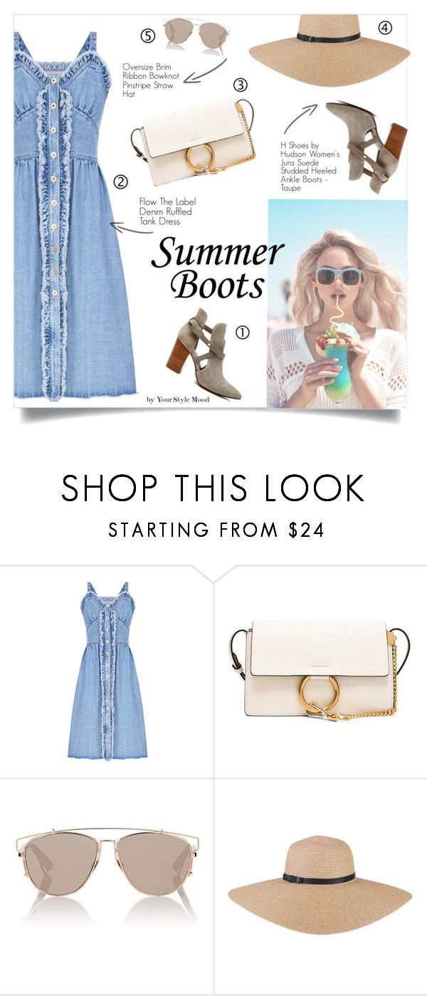 """""""Summer booties"""" by yourstylemood ❤ liked on Polyvore featuring FLOW the Label, Chloé, Christian Dior, Wildfox, summerlook, polyvoreeditorial, polyvorecontest and summerbooties"""