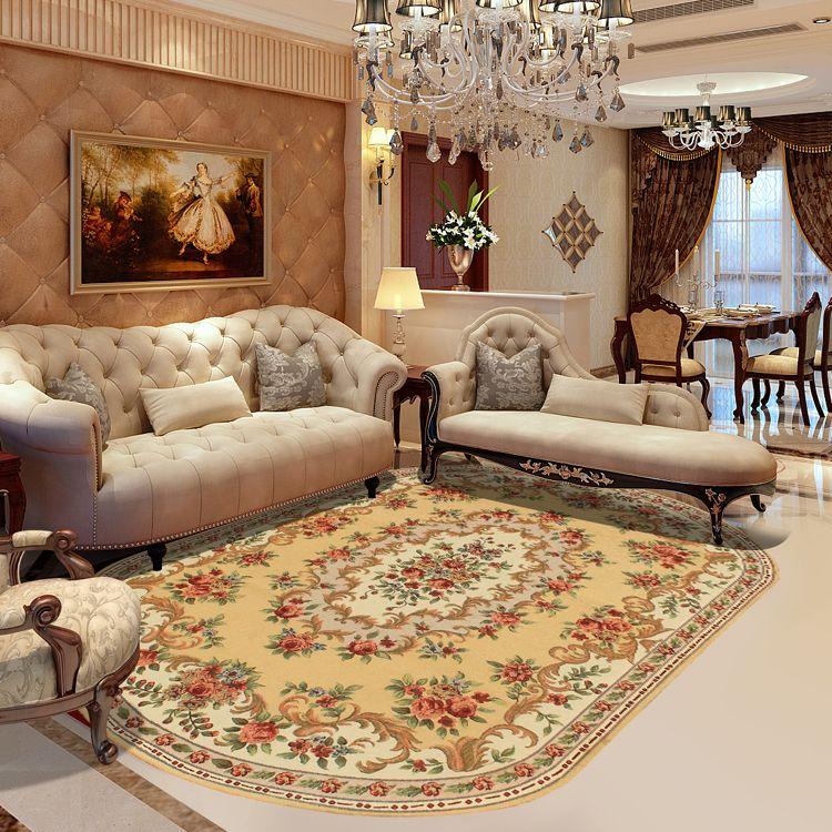 kingart oval shape living room carpet thick floor blanket yoga mat bedroom fur rug and carpet