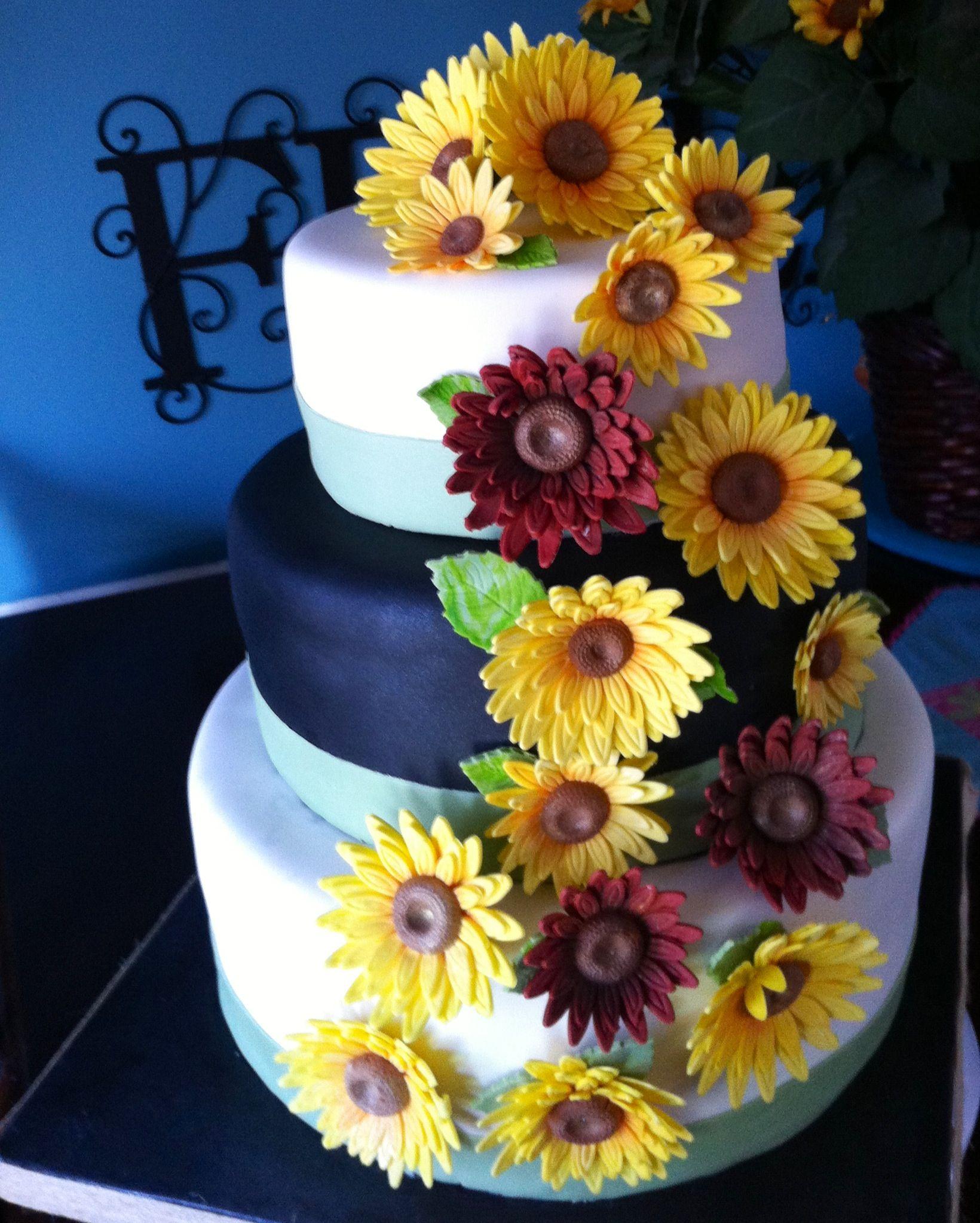 Sunflowers   Cake, My favorite things, 50th birthday