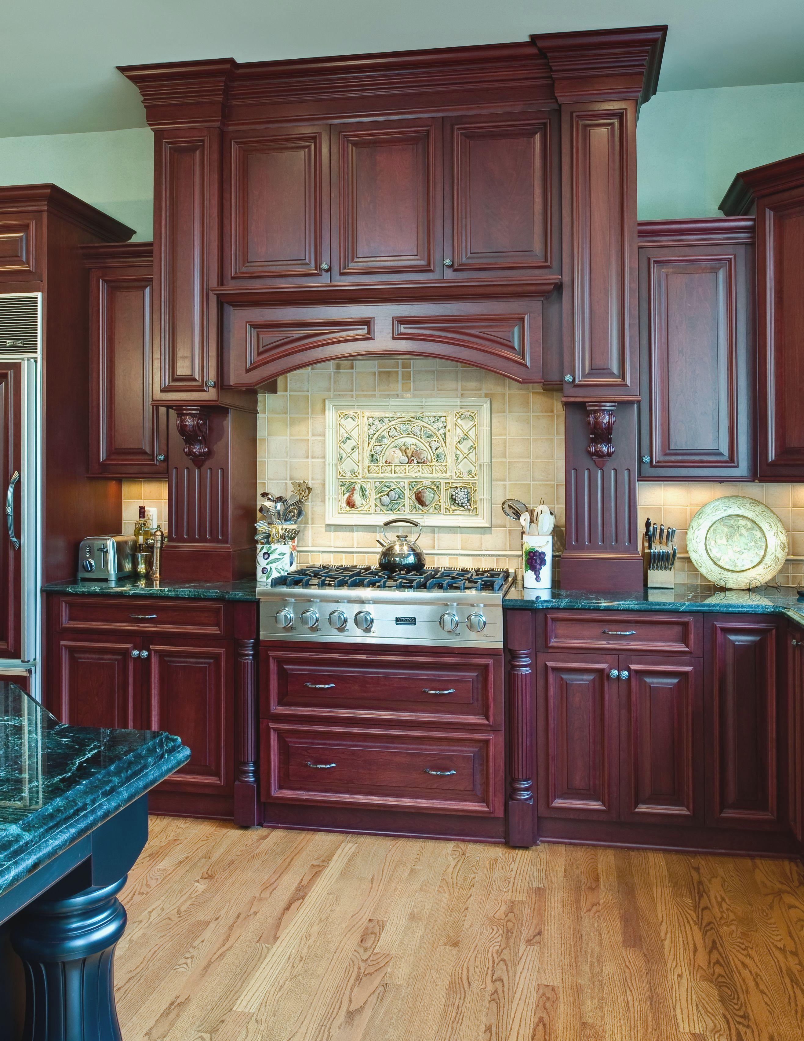 27 Amazing Cherry Wood Kitchens Simplehomy Dot Com Cherry Wood Kitchen Cabinets Cherry Wood Kitchens Cherry Cabinets Kitchen