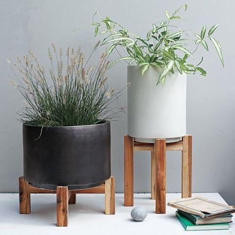 2-antique-ceramic-planters-blue-ceramic-head-planters-ceramic ...