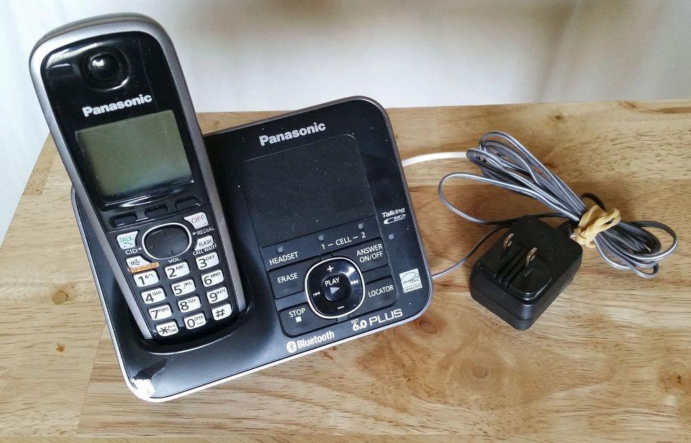 Panasonic Kx Tg7623b Dect 6 0 Link To Cell Via Bluetooth Cordless Phone Black Cordless Phone Blackberry Phone Phone