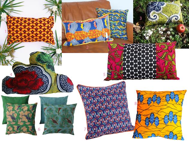 deco wax le tissu africain colore la maison coussins pinterest coussin salon idee deco. Black Bedroom Furniture Sets. Home Design Ideas