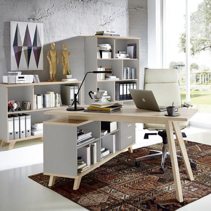 ce bureau scandinave angle droit ou gauche couleur gris et. Black Bedroom Furniture Sets. Home Design Ideas