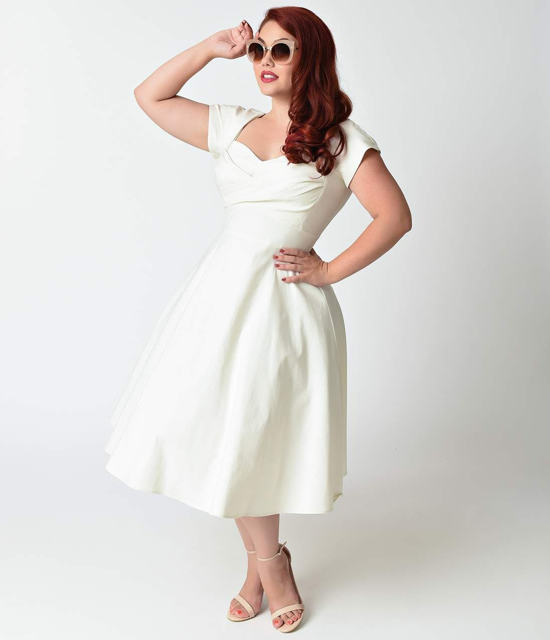 1950s style wedding dresses  Stop Staring Mad Style Eggplant Cap Sleeve Swing Dress  Unique