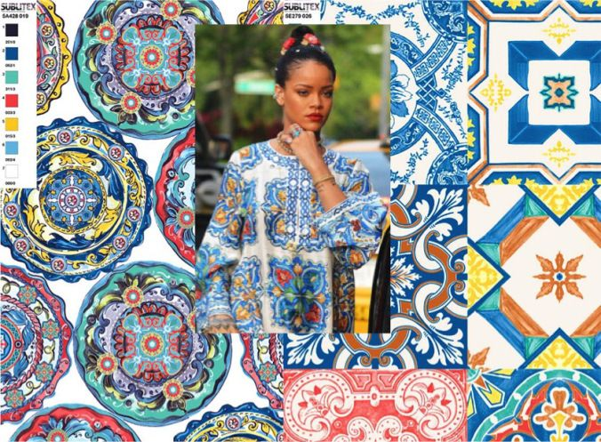 SUBLITEX prints inspired by Rihanna in Dolce and Gabbana