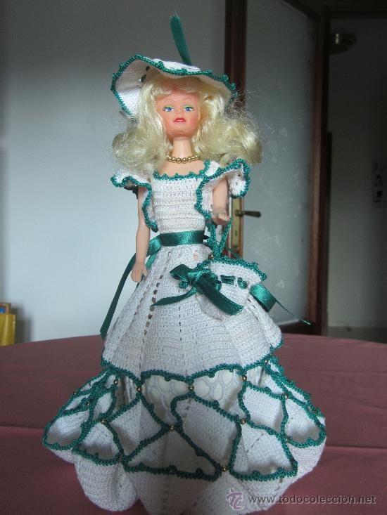 Vestidos para muñecas en crochet - Imagui