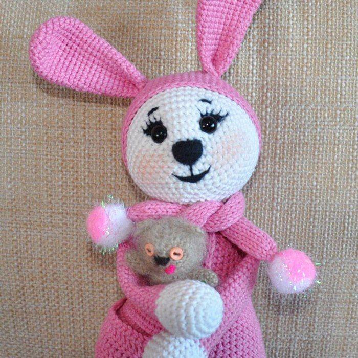 Conejito amigurumi en pijama - patrón de crochet libre | JUGUETES ...