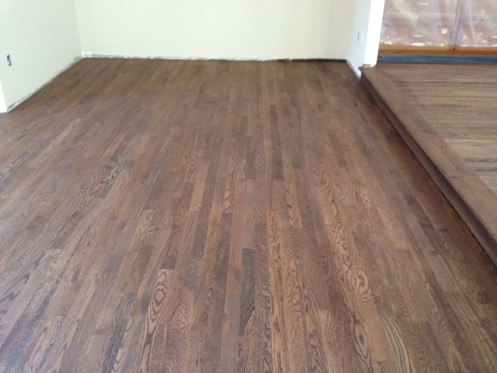 Love Medium Brown Custom Stain On White Oak 2 1 4 Flooring Oak Floors White Oak Hardwood Floors
