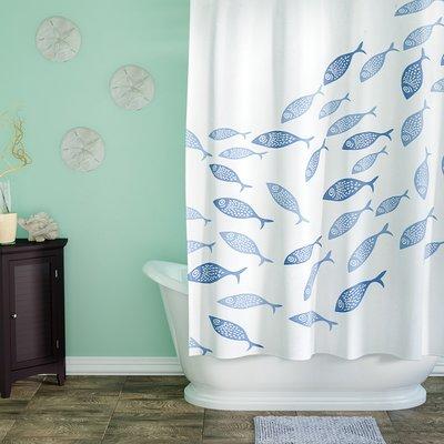 Highland Dunes Cedarville Polyester Coastal Shower Curtain Color