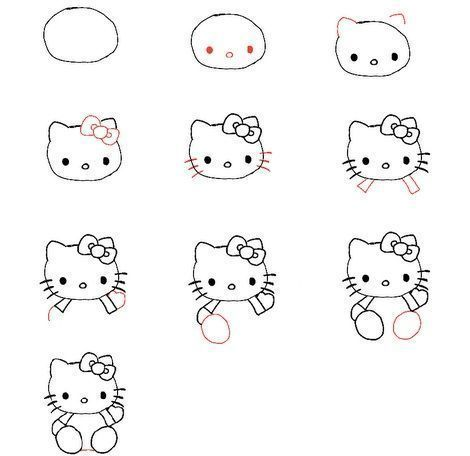 dibujar paso a paso  Cerca amb Google  gats dibuixar fcil pas