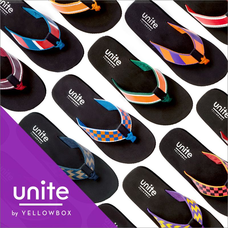 f8ea5df8d The Unite sandals by Yellow Box feature your favorite team colors ...