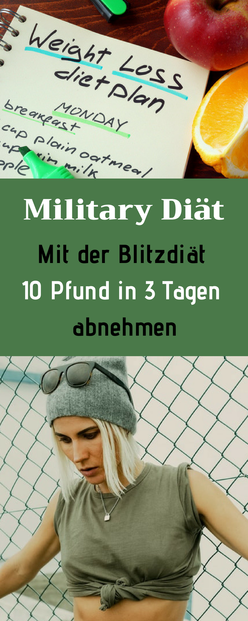 Militärdiät für Männer