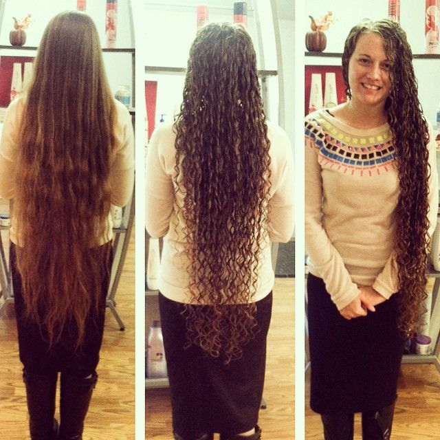 Perm In Super Long Hair Long Hair Styles Permed Hairstyles Long Hair Perm