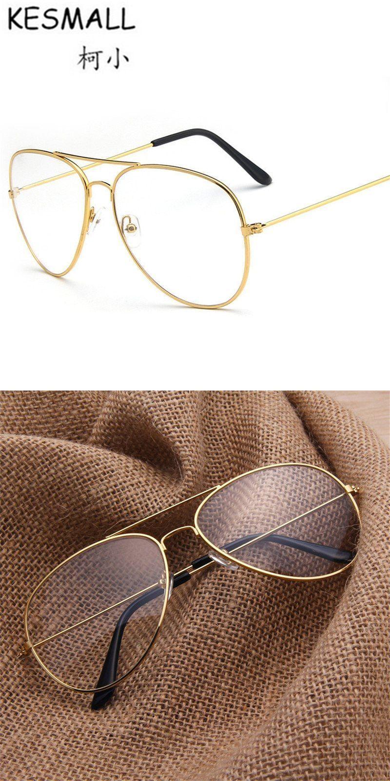 ba48f2989 Vintage eyewear metal frame women men fashion transparent lens eyeglasses  black glasses frame marcos de lentes