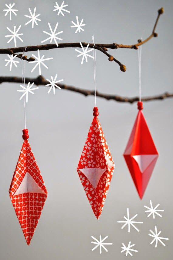 طريقة صنع زينة رمضان بالورق المجسم 3d Paper Christmas Decorations Christmas Origami Origami Christmas Tree