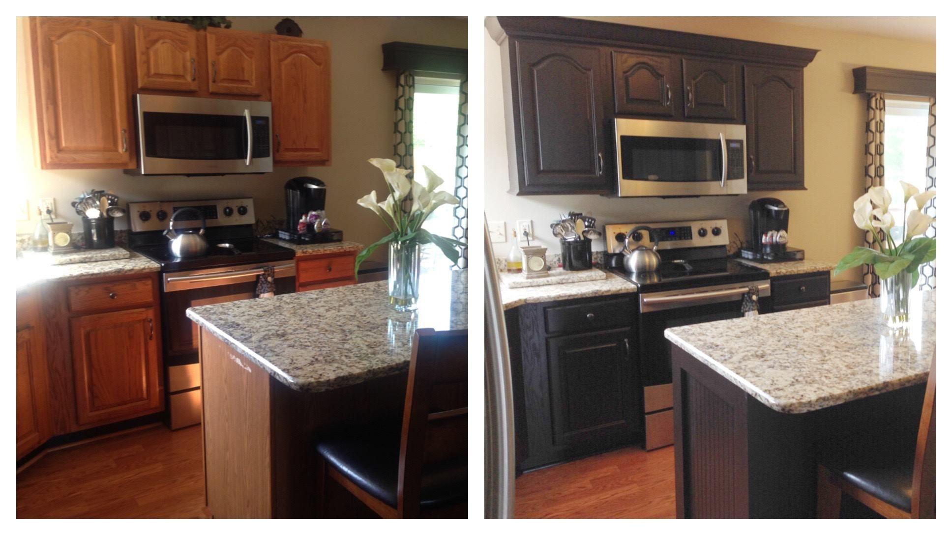 Dark chocolate milk painted kitchen kitchen