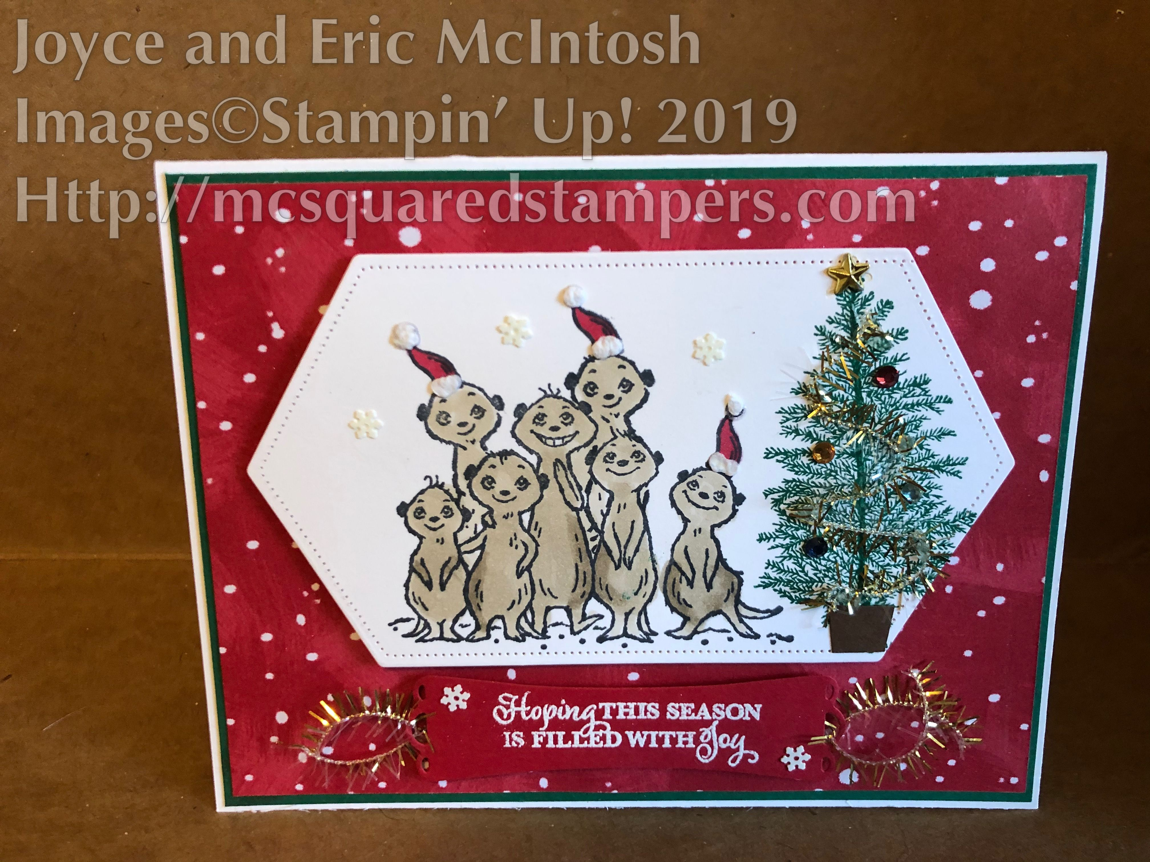 Stampin Up Christmas Cards 2020 Sneak preview of The Gang's All Meer. Coming January 2020