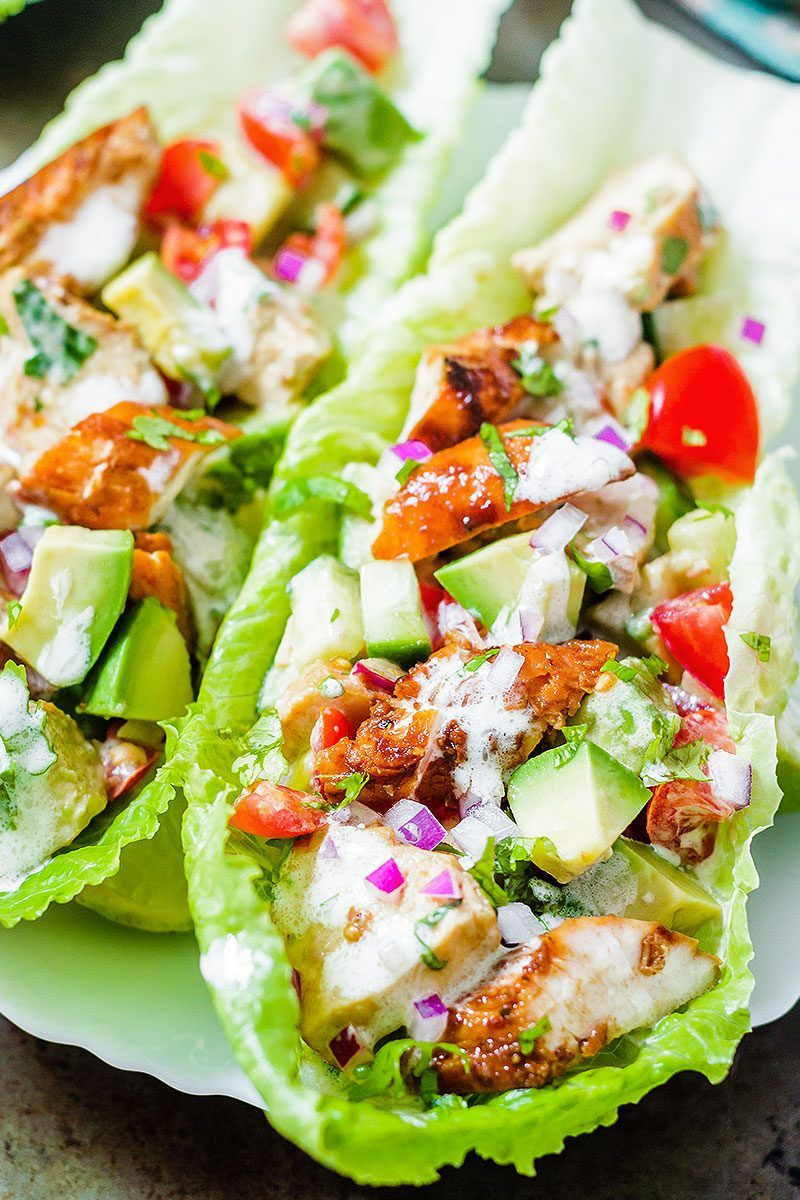 Chipotle Chicken Lettuce Wraps images