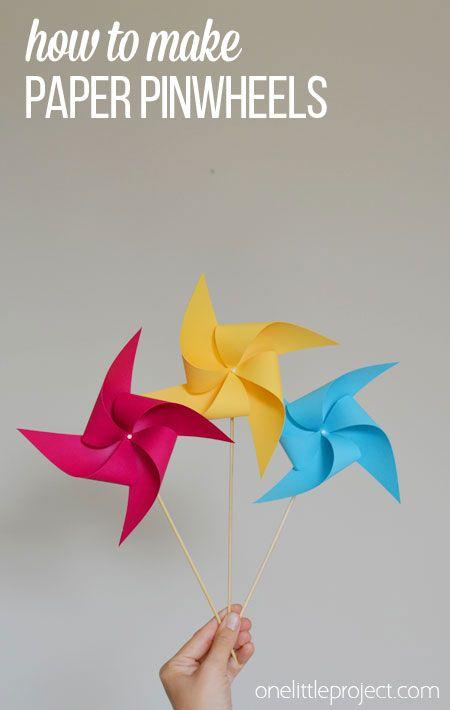How To Make A Pinwheel Paper Pinwheels Spin And Craft