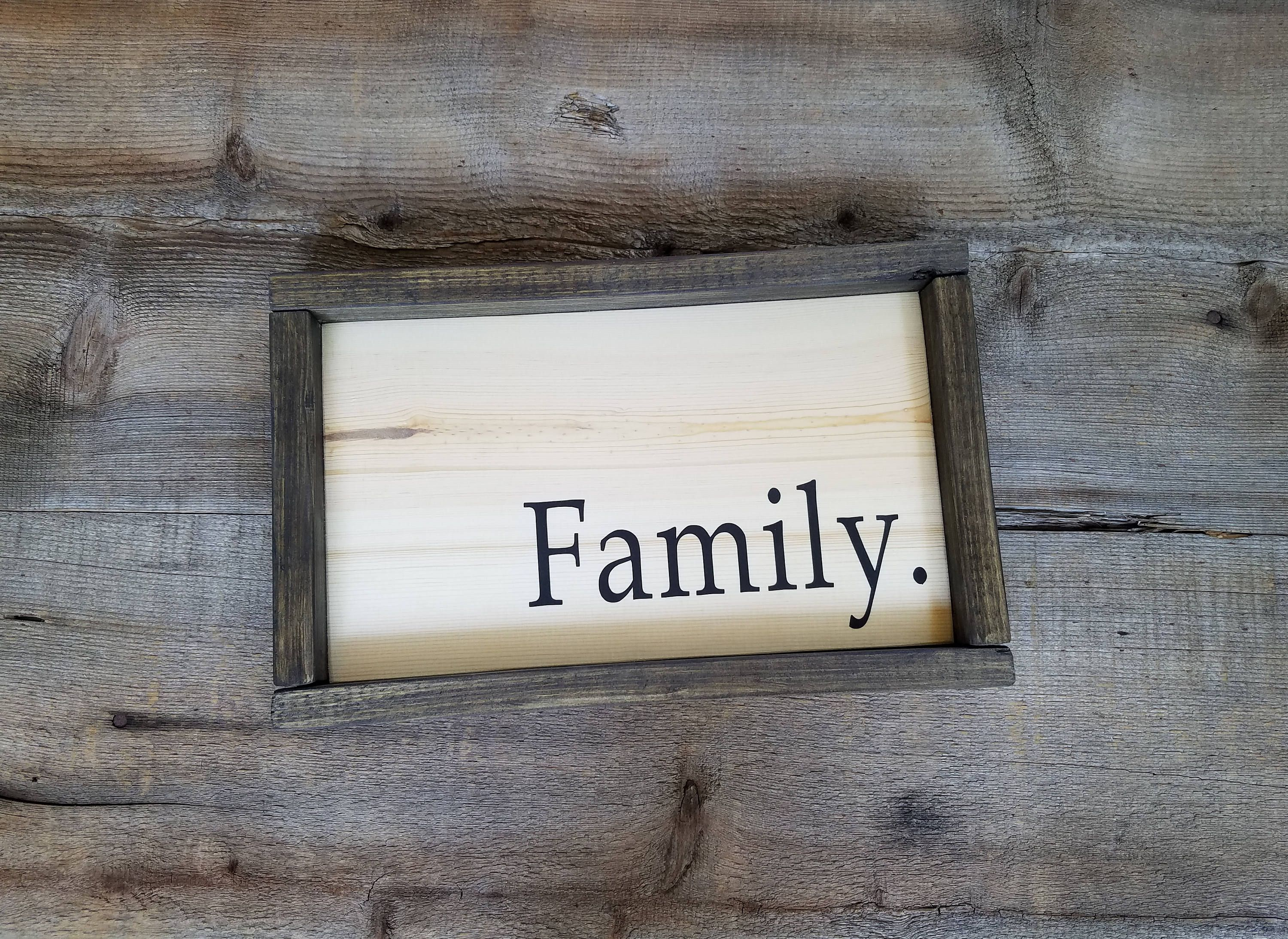 Wall Signs Decor Custom Family Wood Signrustic Family Sign Family Wooden Sign Inspiration