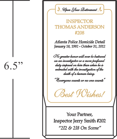 Police Retirement Wishes Plaque 464 2