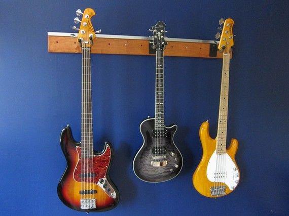 Wall Mount Slatwall Guitar Rack Hanger By Jonesn On Etsy - Porte guitare mural
