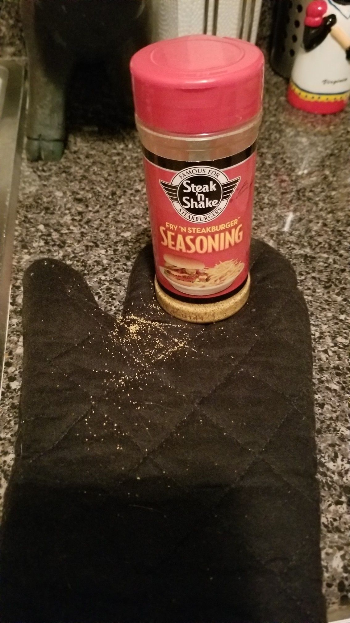 This salty, slightlypaprikay seasoning from the Steak 'n