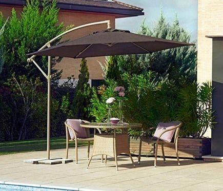 Parasoles y sombrillas de brazo o excentricos leroy merlin - Sombrillas y parasoles ...