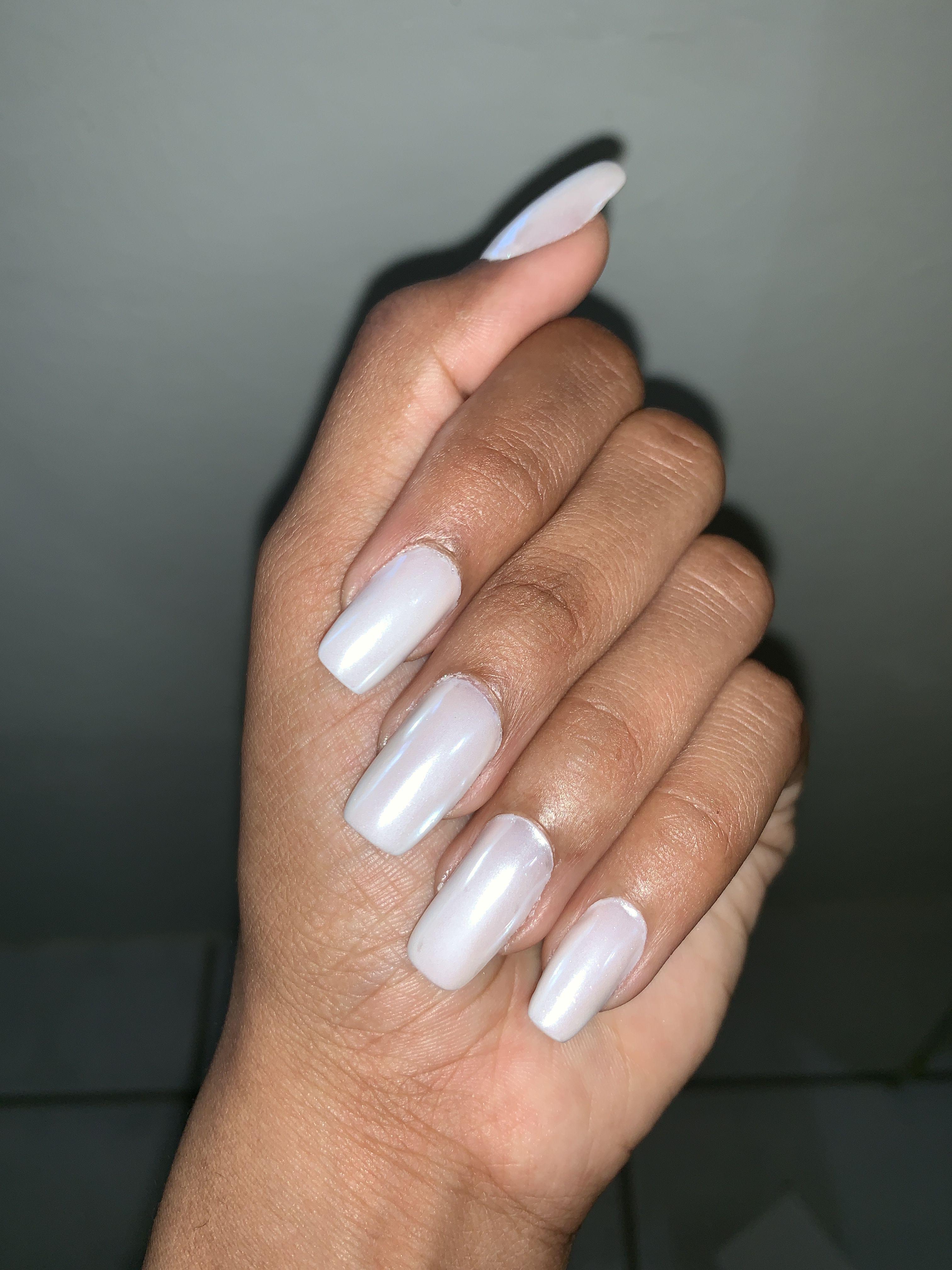 Polygel Nails Polygel Nails Nails Chrome Powder