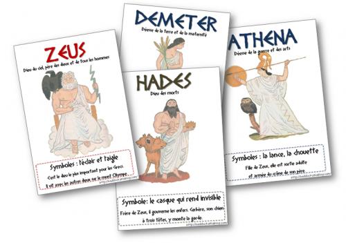 Mythologie - affiches dieux de l'Olympe #odyssÉe