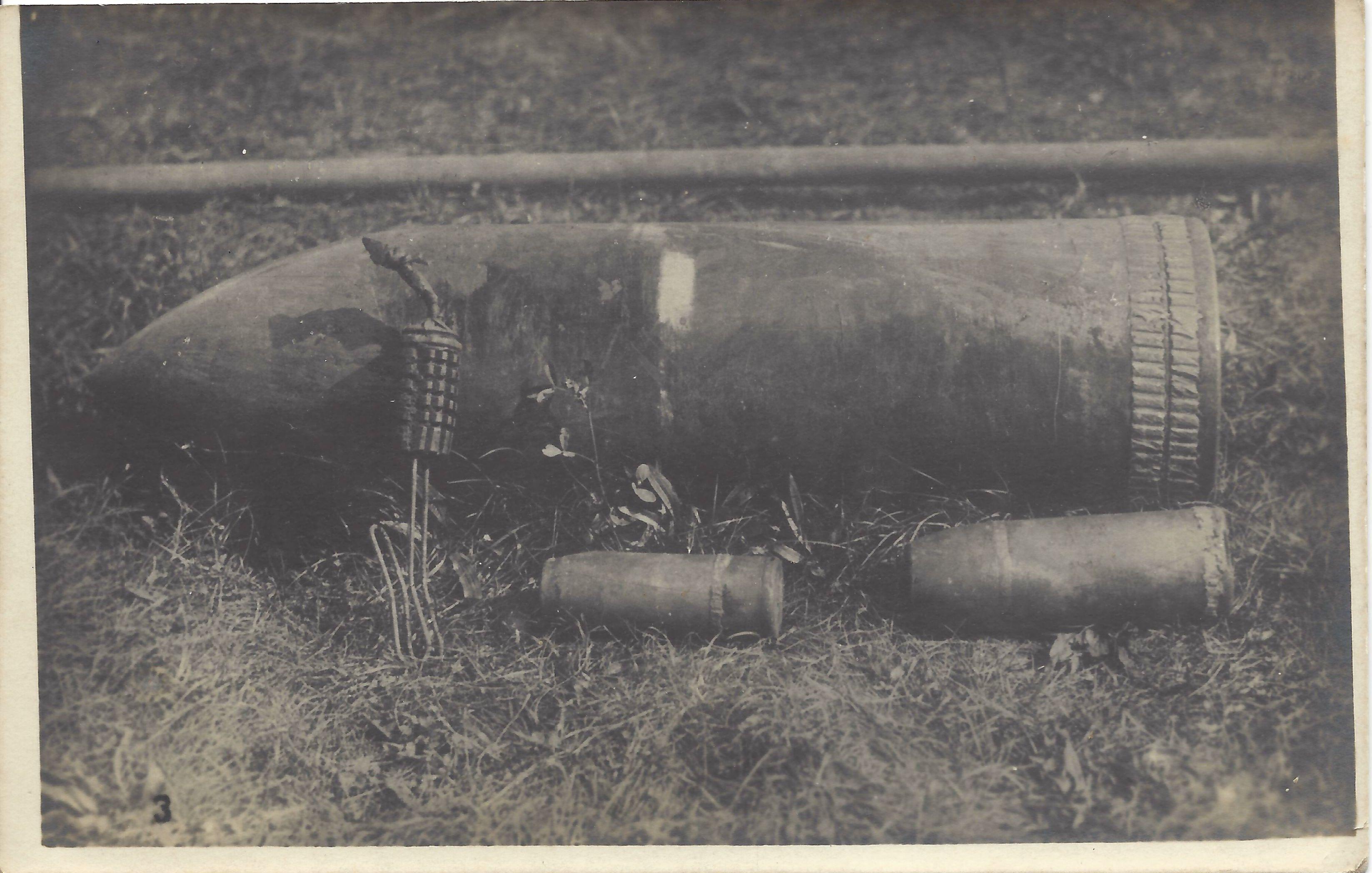 (1915-18) Obici da 305, 152, 75 e bomba a mano inesplosi