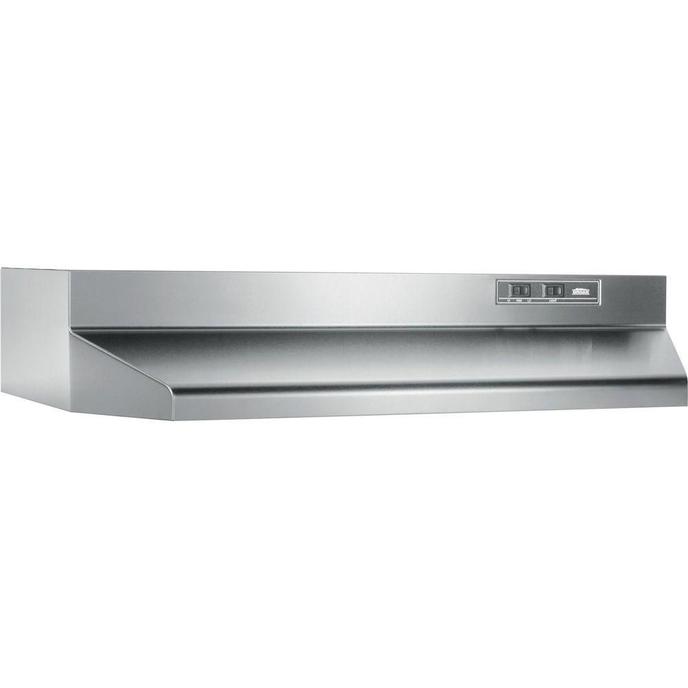 Broan Nutone 40000 Series 30 In Under Cabinet Range Hood With Light In Stainless Steel 403004 The Home Depot Broan Range Hood Stainless Range Hood