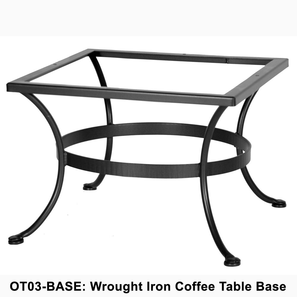 - OW Lee Standard Wrought Iron Coffee Table Base Creativity Iron