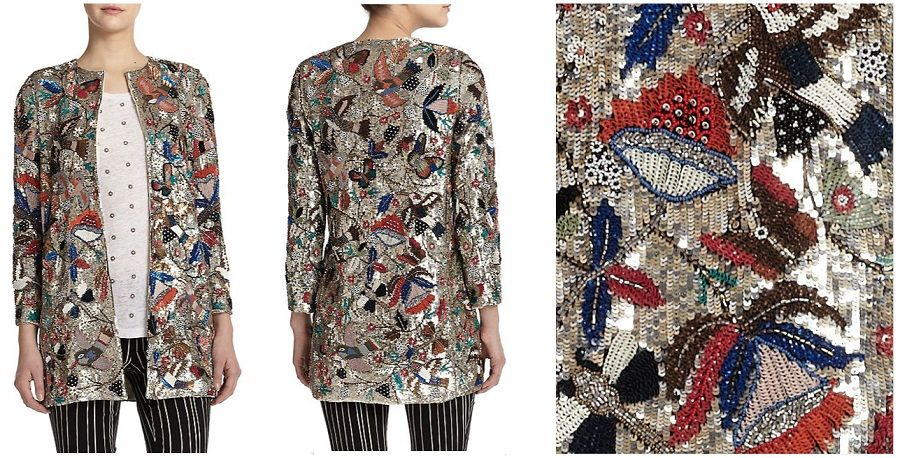 Alice + Olivia Rory Embellished Jacket