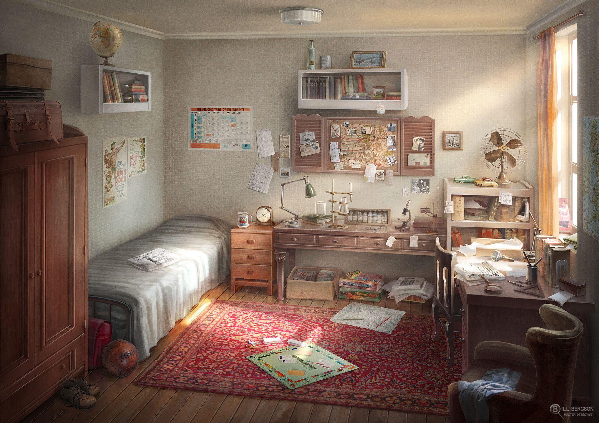 ArtStation Bill Bergson's room, Alex Pavlovich Room