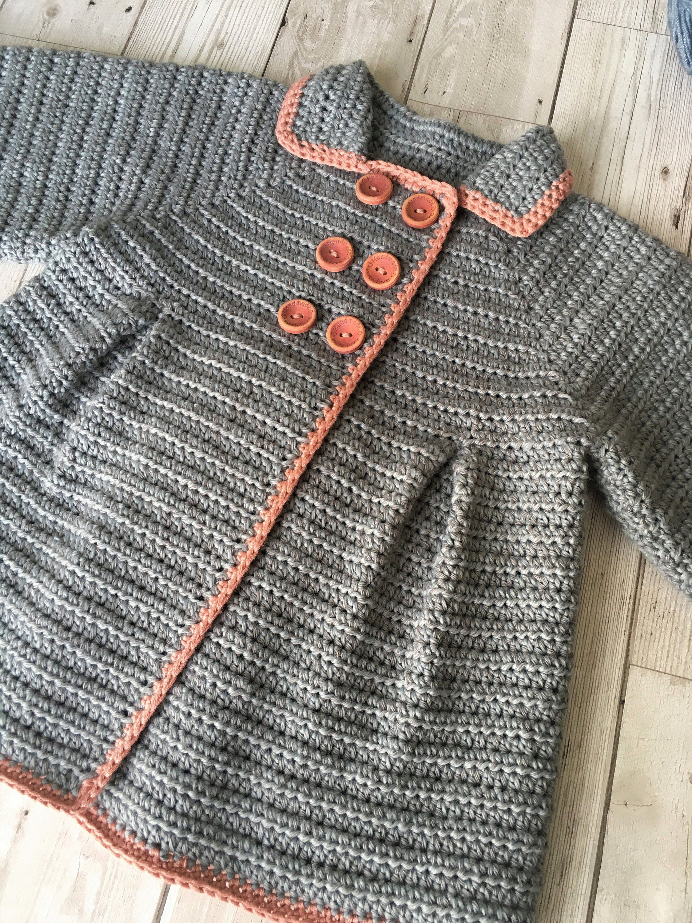 Crochet Pattern Baby Coat - 6 months to 36 months