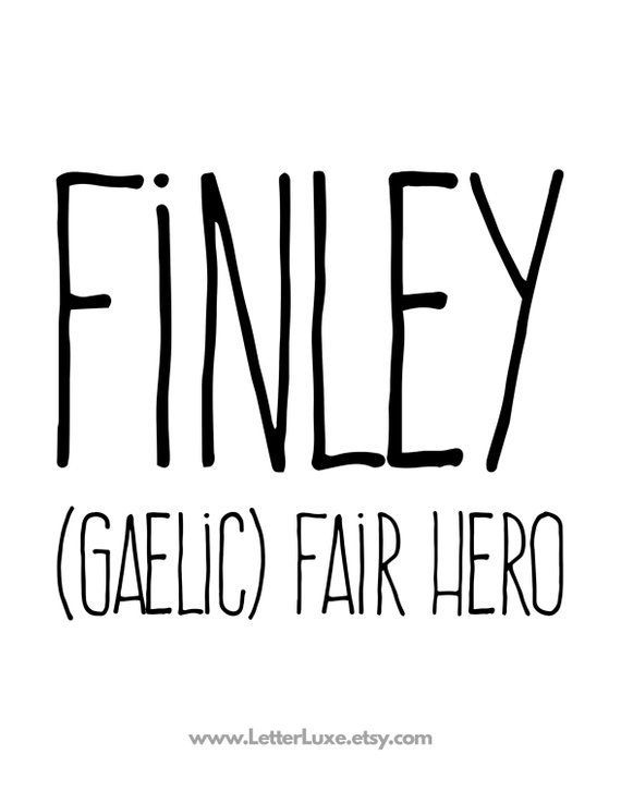 Finley Name Meaning Art - Printable Baby Shower Gift - Nursery Printable Art - Digital Print - Nurse