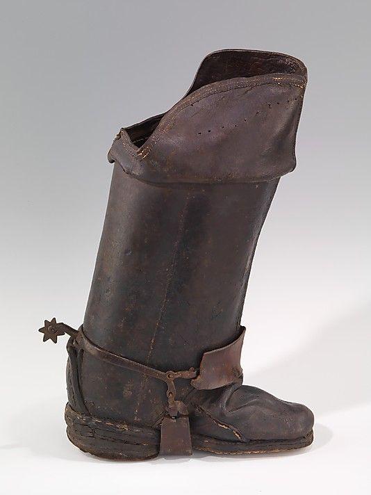 de04b5ce27eb Boots (Jackboots) Date  18th century Culture  British Medium  leather  Dimensions  (a)  12 1 2 x 18 1 2 in. (31.8 x 47 cm) (b)  7 x 10 1 2 in.
