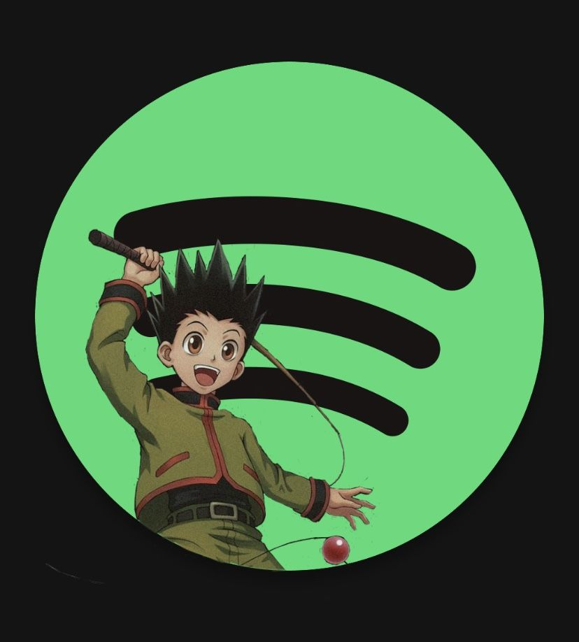 Discover more posts about hunter x hunter wallpapers. Spotify Anime Icon🟩💚🖤🎵 | App anime, Anime wallpaper iphone ...