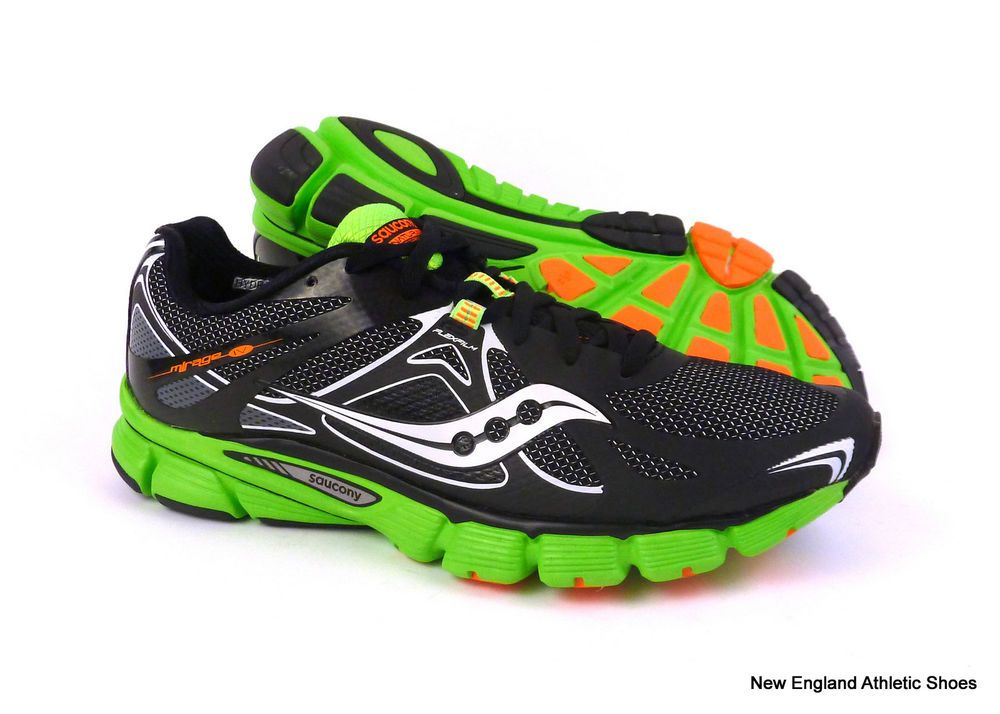 8d5d64d8 Saucony men Mirage 4 running shoes size 11.5 - Black / Green ...