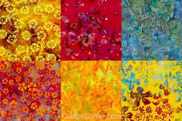 batik fabric   Batik Fabric Wall Art Mosaic   Types of Fabric ...