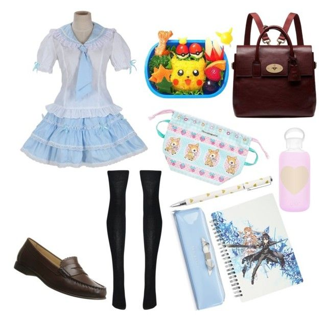 """Sister's OC school uniform"" by zozo-chan ❤ liked on Polyvore featuring Jack Rogers, COS, Mulberry, bkr, Kirito, Ted Baker, women's clothing, women, female and woman"