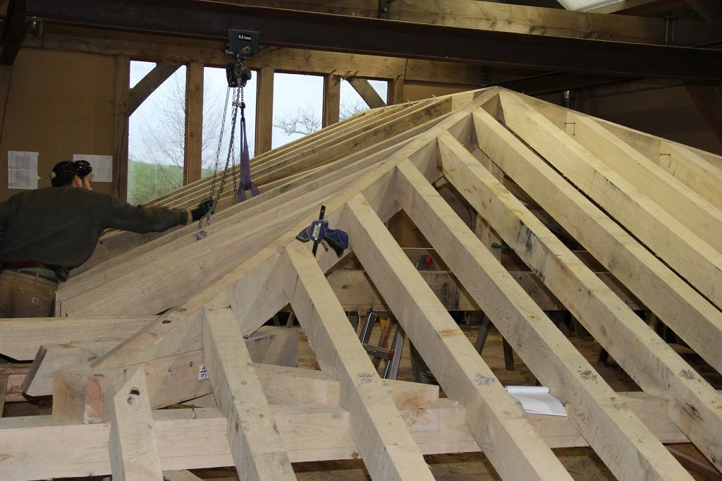 Swansea hipped roof Timber framing, Hip roof, Timber frame
