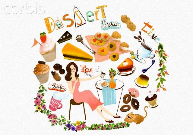 Illustration of dessert