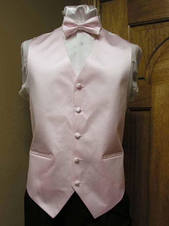 Vest Violet Necktie or Bowtie Satin Full Back Tuxedo Wedding Steampunk