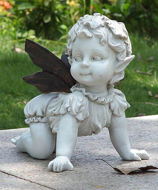 Crawling Baby Fairy Statue Fairy Statues Baby Fairy Crawling Baby