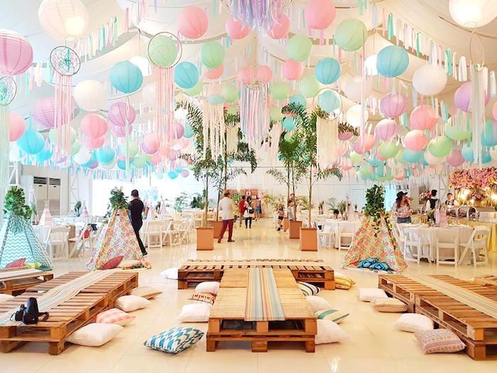Coachella music arts festival inspired birthday party on for Event planning decorating ideas