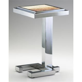 cyan design 04608 tandy accent table in chrome